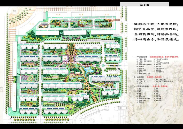 住宅组团规划设计住宅组团设计手绘住宅组团规划图绿地设计绿地规划