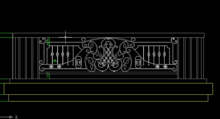 满足规范的阳台金属式样图纸立面图_cad栏杆在cad图中显示坐标怎么图片