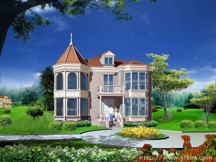 某三层框架结构别墅施工图纸(含建筑,结构,给排水,电气) 上海别墅地源