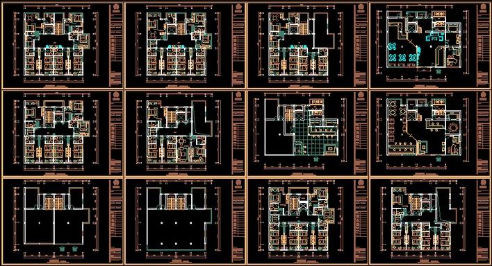 商务宾馆装饰平面图