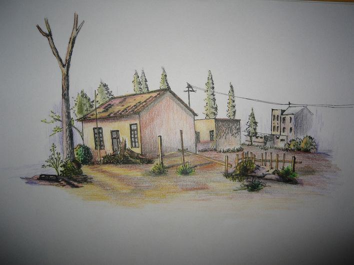 大师彩铅手绘风景画; 个人速写作品; 手绘作品1 35