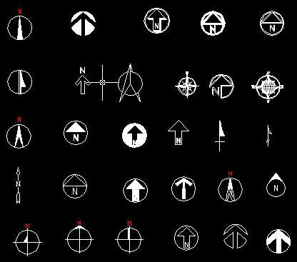 ps指北针图标_动感雪花背景eps; 平面图中指北针图标