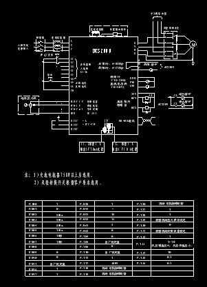 本图使用drs变频器及远传压力表,恒压供水实例的原理图