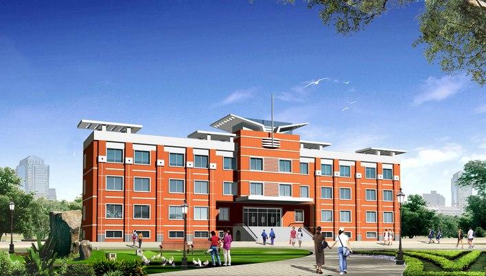 四层砖混结构   相关专题:教学楼设计效果图 大学教学楼效果图 小学