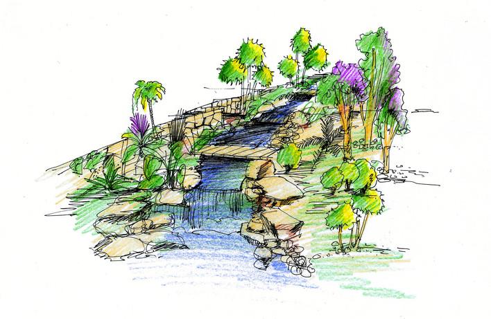 濱水景觀節點效果圖,很好的設計方案(造型花壇) 無錫新世紀花園全套