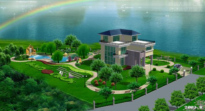 园林及建筑小区规划效果图制作风暴4