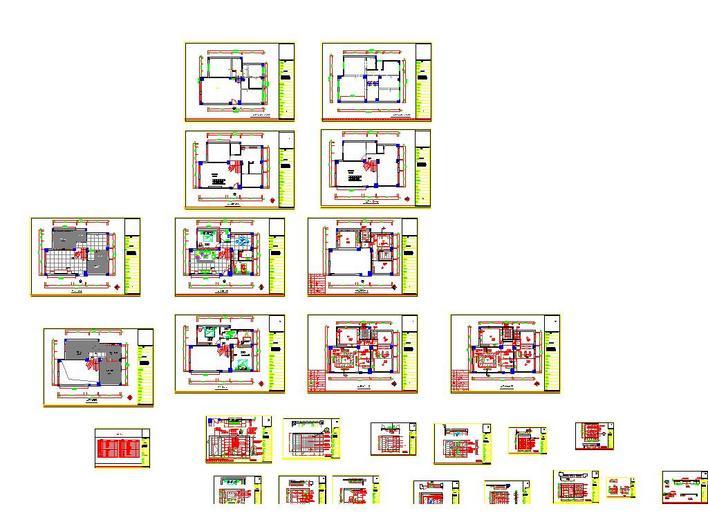 图纸 建筑图纸 别墅图纸 别墅设计图 一套两层的别墅施工图纸  上传图片