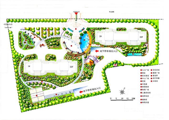 单位宿舍景观平面图