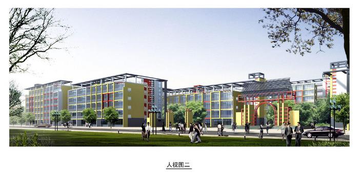 简介:大学系列纸:总平面图鸟瞰图教学楼透视图建筑细部效果图各侧