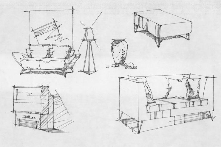 家具手绘_手绘家具训练_cad图纸下载-土木在线