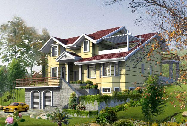 联排别墅边户欧式花园设计