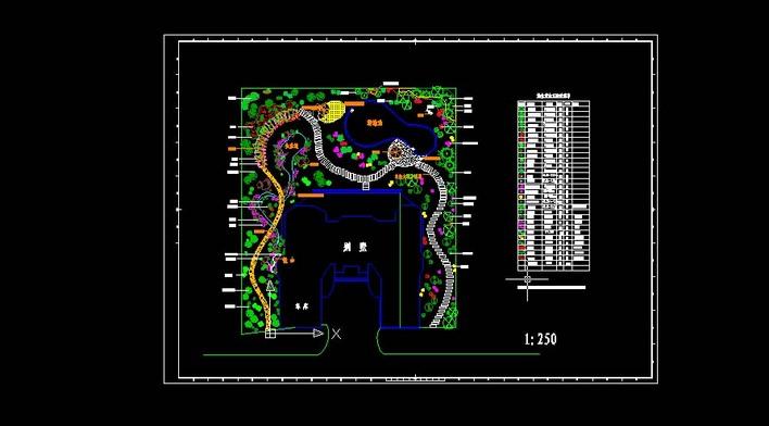 别墅绿化景观平面图