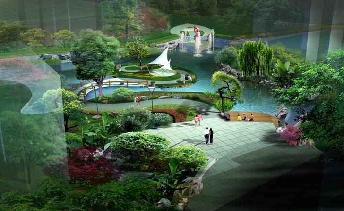 园林设计图 景观规划设计 居住区景观规划设计图 居住区小区景观效果