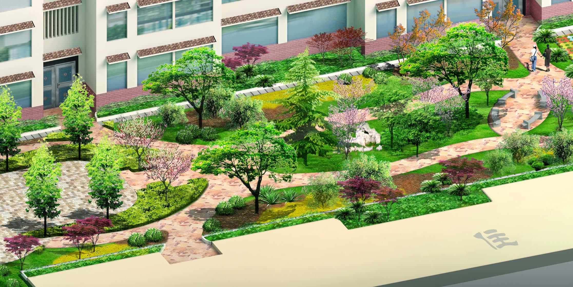 杭州某现代风格住宅小区室外景观工程全套施工图 浙江某高档居住小区