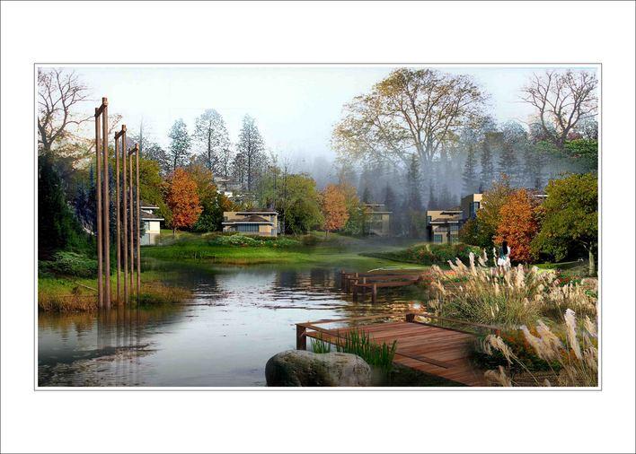 广场景观经典效果图-1(全套20张) 陈红卫室内景观建筑手绘效果图300张