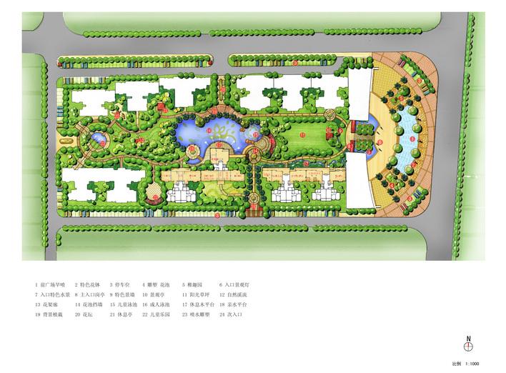 某小区绿化总平面图