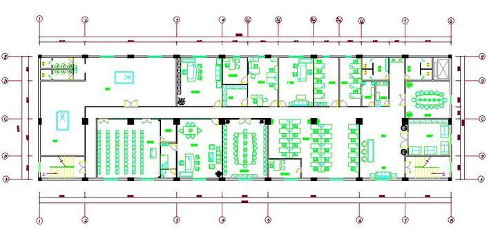 一个办公楼的平面图(一层)