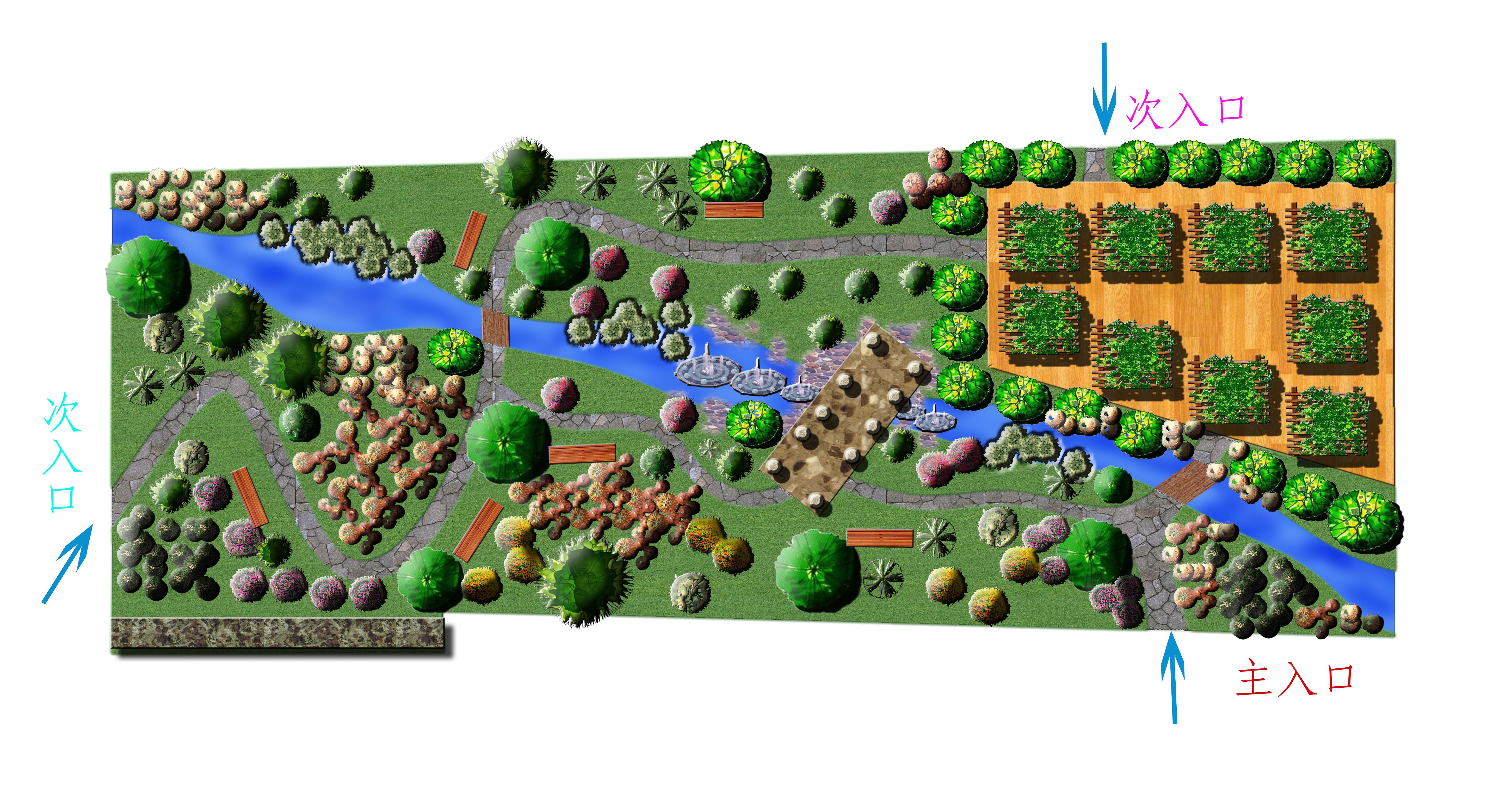 景观cad图公园景观设计公园景观小品公园景观快题设计滨水公园景观 其