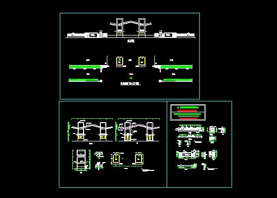 小区入口建筑设计(cad图纸下载)-图1
