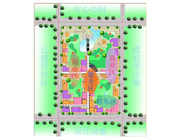 商业区规划平面图