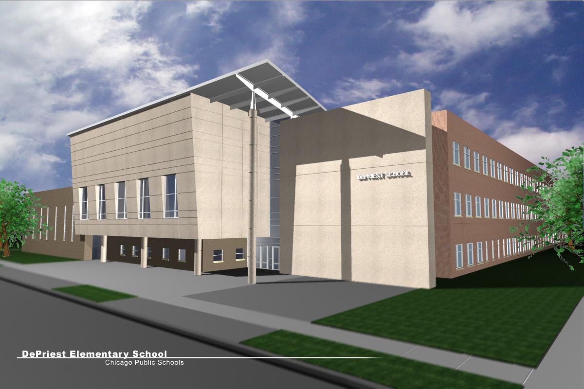 美国中部小学教学楼图片