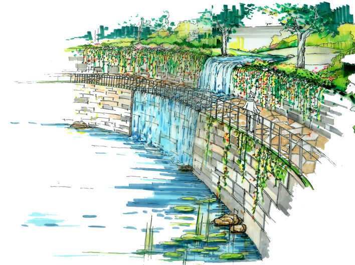 园路平面设计手绘图