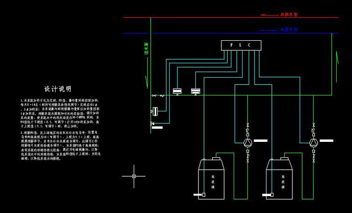 空调水加药系统流程原理图