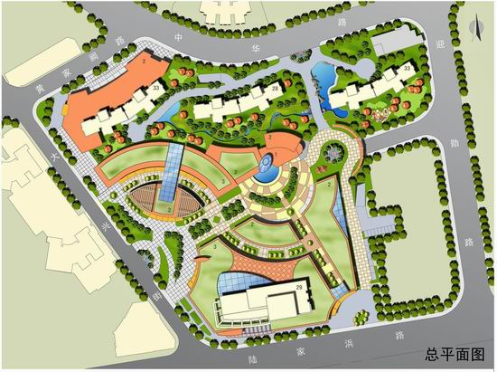 整套高档住宅小区景观设计图纸,包括全部规划方案图纸及相关分析图