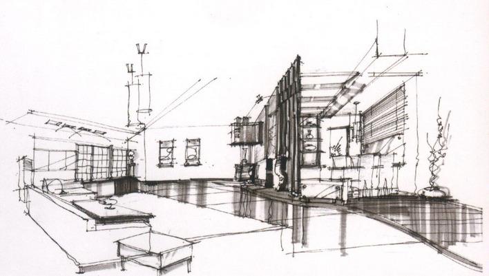 手绘建筑工程图