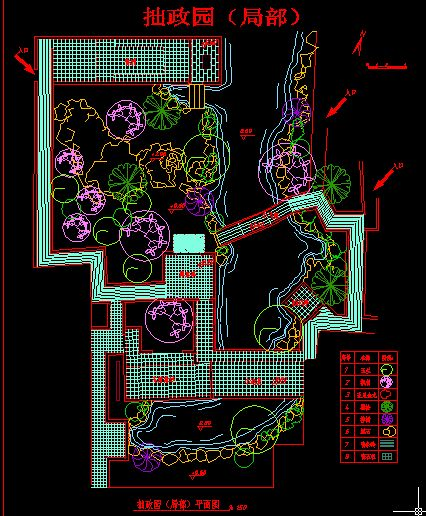 苏州拙政园平面图  (426x516); 苏州拙政园平面图; 拙政园 苏州园林之