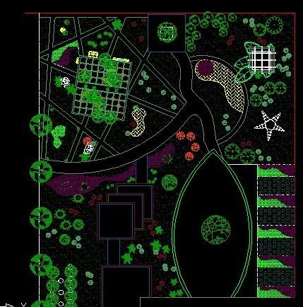 小区绿化平面设计图
