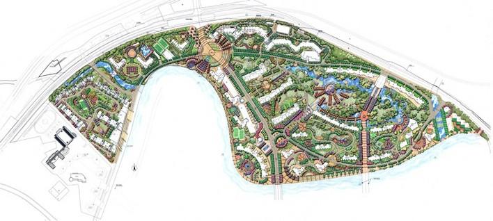 动画演示等 某景观小区规划设计含植物配置图及效果图和小品 某综合