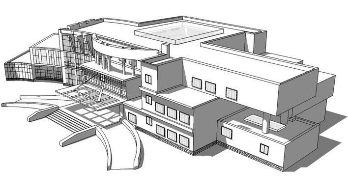 现代化的综合医院门诊楼设计方案 高清图片