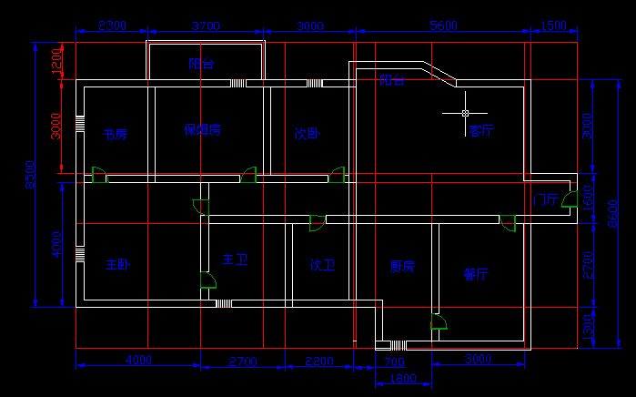 两室一厅设计平面图图片; 两室一厅平面图 图纸很简单;