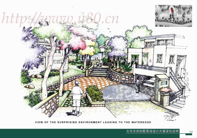 大华京郊别墅景观设计_cad图纸下载-土木在线