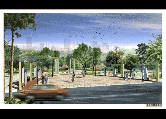校园景观小品效果图 广场景观小品效果图 园林效果图  所属分类:立面