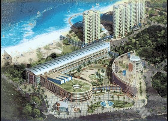 园林设计图  园林景观效果图  园林景观鸟瞰图(鸟瞰图)  商业广场景观