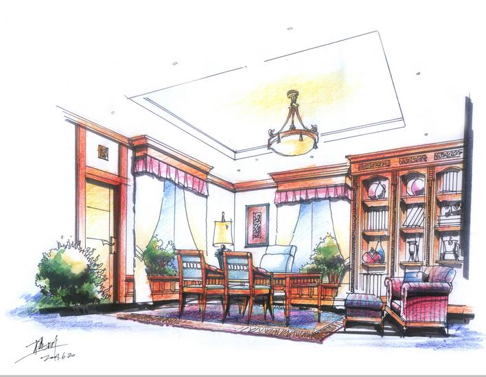 欧式室内设计手绘资料