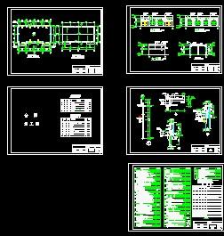 某钢结构仓库建筑(cad图纸下载)-图1