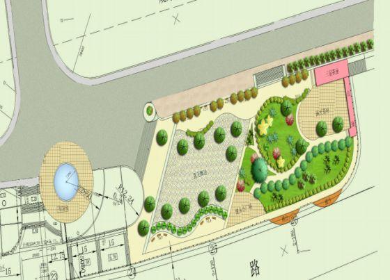 园林设计图 公园植物种植图