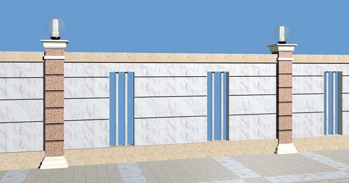 效果图厂房围墙效果图围墙大门效果图别墅围墙效果图小区围墙效果图