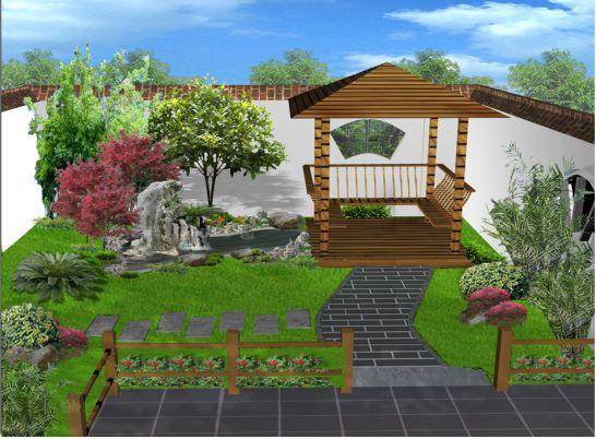 园林设计图 某庭院效果图