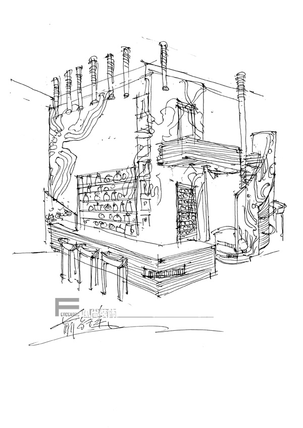 图纸 建筑图纸  咖啡厅    咖啡厅立面图   相关专题:咖啡厅 咖啡厅图