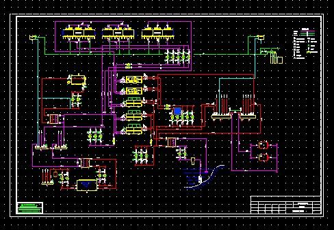 空调水系统原理图_co土木在线图纸下载