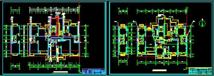 某工程b单元水暖施工图图片