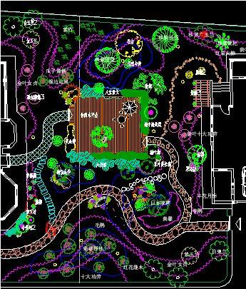 别墅绿化平面图 别墅绿化平面设计图 别墅庭院绿化设计平面图 别墅