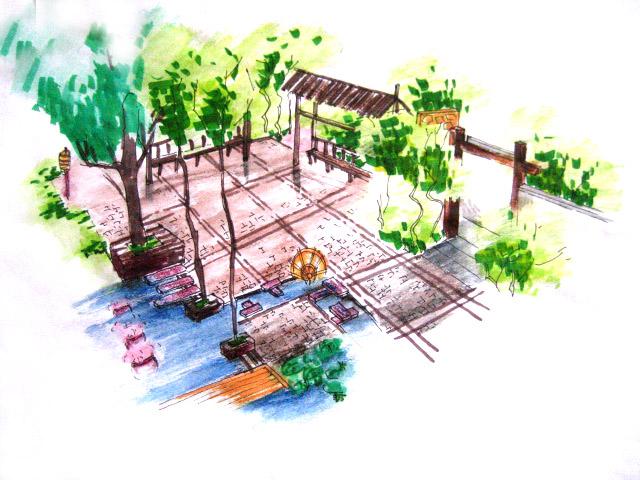 图纸 园林设计图 手绘效果图  (0人评价)|                | 73次下载