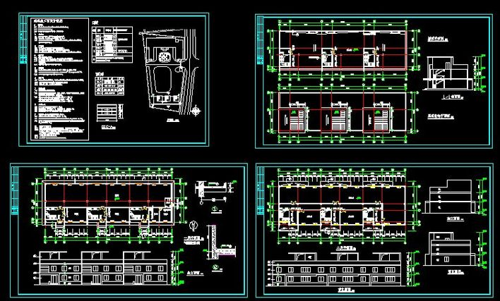 某地丙二类钢结构仓库电气设计施工图纸 某工厂五层丙类汽车维修车间