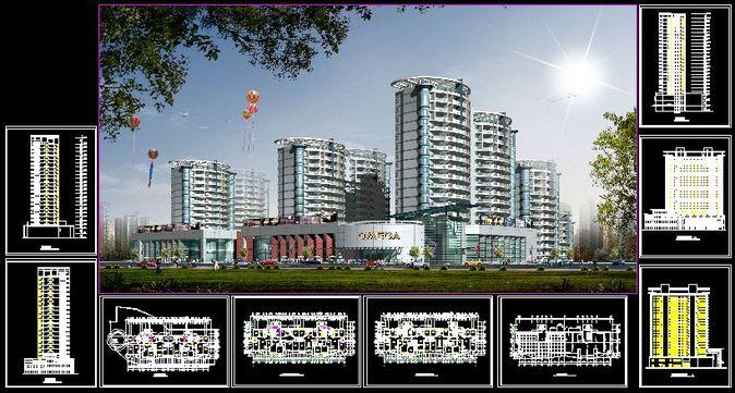 附效果图和立面渲染,供大家学习参考下载   相关专题:高层建筑效果图