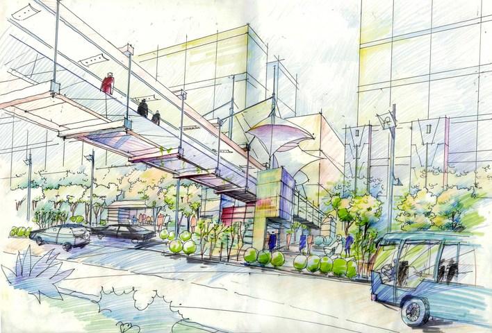 相关专题:景观小品手绘透视图景观透视图建筑透视图亭子透视图花架